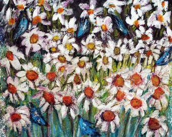 Daises and Birds