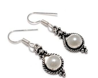 Fabulous River Pearl 925 Silver Earrings
