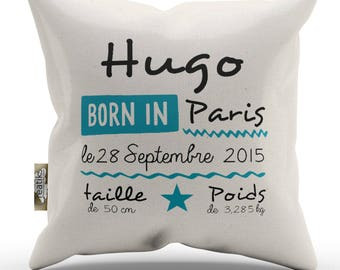 Personalized baby boy 100% cotton cushion