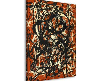 Jackson Pollock - Free Form - Abstract Canvas Print Wall Art / Framed or Frameless / Available in 1, 3, and 5 Panel versions