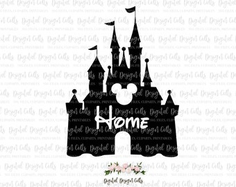 Disney Home Iron-on, SVG, dxf, png, pdf, Home Disney Printable, Distey Castle Printable, Disney Iron-on, Disney Castle SVG
