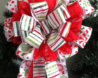 Candy Bow / Wreath Bow / Christmas Bow