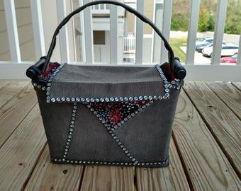 Grey Comfort Basket Purse by Kim Gaines