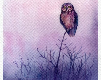 """PRINT - Peaceful watercolor painting 7.5 x 11"""""""
