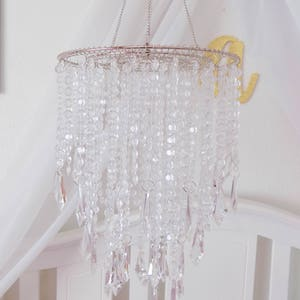 Baby Mobile, Party Chandelier Crystal Princess, Hanging Chandelier Also  Available In Gold