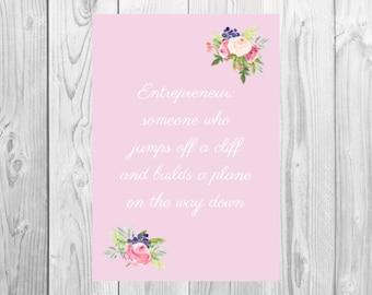 Entrepreneur Print - Build it: Pink