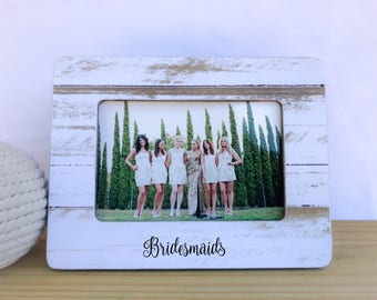 Bridesmaids Gift  Personalized Picture frame for Bridesmaids Gift for Bridesmaid Thank you Gift for Bridesmaids Maid of Honor Frame
