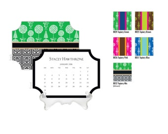 2019 Desk Calendar / Custom Calendar / Calendar with Stand / Bookplate Calendar / 2019 Calendar / Monogrammed Calendar Planner