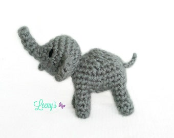 Mini Elephant Amigurumi / Elephant Gifts / Small Plush Elephant / Miniature Elephant Stuffed Animal / Micro Crochet Animals