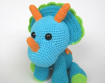 Triceratops Tripi - Amigurumi Crochet Pattern / PDF e-Book / Stuffed Animal Tutorial