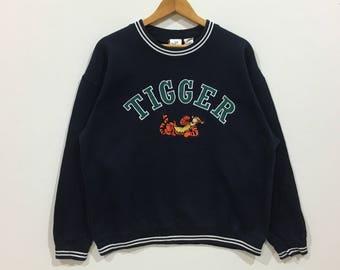 Rare !!! Vintage tigger // the disney store sweatshirt