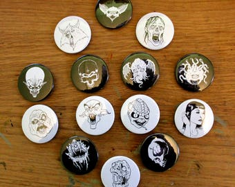 4.5cm Badges - 3 pack