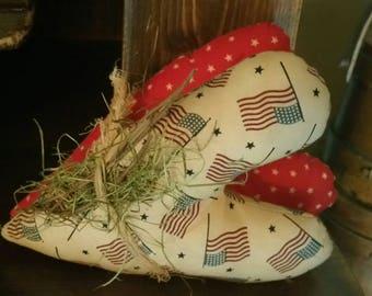 Primitive Americana Stars & Stripes Country Hearts
