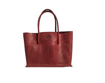Big leather bag ShopperTasche shopping bag Ledershopper used look handmade