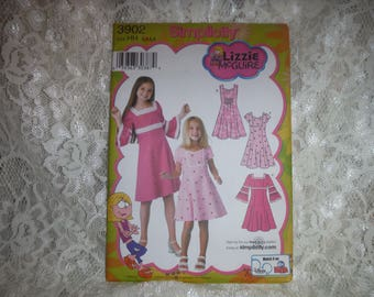 paper pattern little girl dress