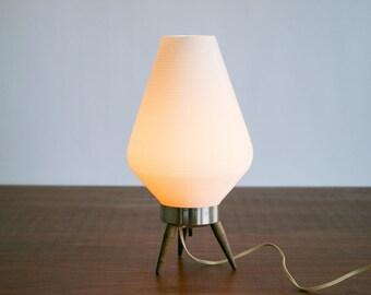 "Mid Century Modern 14"" Rotaflex Beehive Table Lamp // Wooden Legs, Nice Glow // Vintage, 1960's, Designer, MCM, Retro, Mod, Asian Modern"