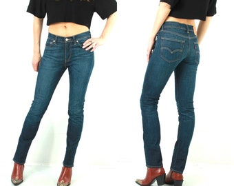 Levis 510 Jeans / Woman Levis Jeans / Levis W30 L32 / Blue Levis Jeans / Vintage Levis Jeans / Taper Levis Jeans / Tapered Jeans / 90s Jeans