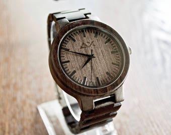 FREE ENGRAVING, Men Watch, Wood Watch, Wooden Watch, Groomsmen Gift, Gift for Him, Mens Wood Watch, Wedding Gift, Wood Watch for Men, Wood