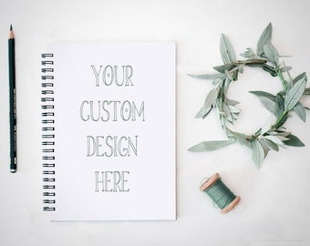 Custom NoteBook - Journal - Bullet Journal - Notepad - Spiral Notebook - Wedding Gift - Bridal Shower  - Wedding Favour - Bridesmaid Gift