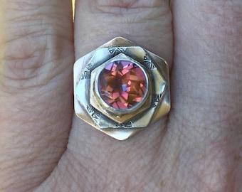 Rosette Art Deco Inspired Memorial Ring