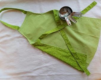 Toddler Reversible Apron - Green