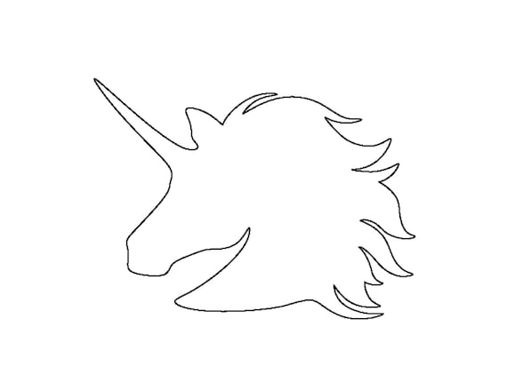 Unicorn Stencil Made From 4 Ply Mat Board