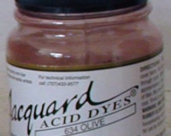 Olive 634 Jacquard Acid Dye for Wool, Silk, Feathers, Nylon, any protein (animal) fiber. Add vinegar, heat to powder for bright colors.
