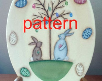 EPATTERN, #0027 Easter Egg Tree , Easter painting pattern, tole painting pattern, bunny epattern, spring pattern, decorative painting, prim