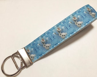 Olaf Snowman from Frozen the Movie Key Fob Keychain wristlet