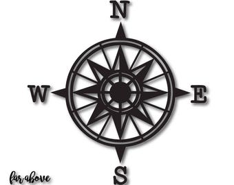 North Arrow Compass Rose - SVG, EPS, dxf, png, jpg digital cut file for Silhouette or Cricut Map North East South West