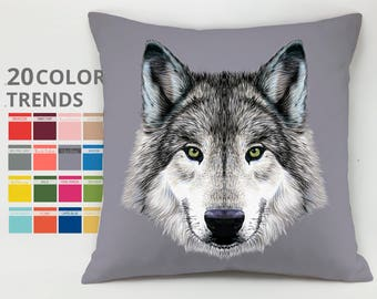 Wolf pillow case Cushion case Decorative pillow Throw pillow cover Animal pillow Wolf Cushion Direwolf pillow Direwolves pillows