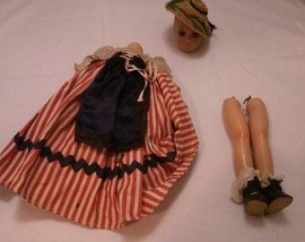 Vintage Victorian Style Plastic Doll parts