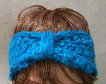 Earwarmer headband, crochet headband, Turban style Headband  Ear Warmer, brown headband, Handmade accessory, boho style