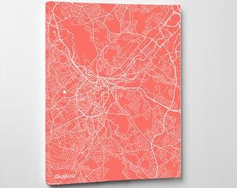 Sheffield Street Map Print Map of Sheffield City Street Map England Poster Wall Art 7098P