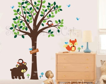 Nursery Wall Decal - Wall Decals nursery -Forest friends decal - Forest decal - Children decal -Tree decal - Nursery