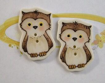 Owl Button set of 2