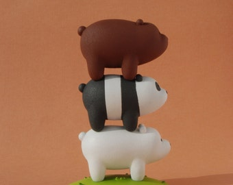 We bare bears | Bears Stack | Grizzly Panda Ice Bear | figure We bare bears