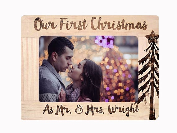 First Christmas Frame Married Christmas Gift for Boyfriend
