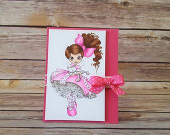 Pretty Girl Pink Card