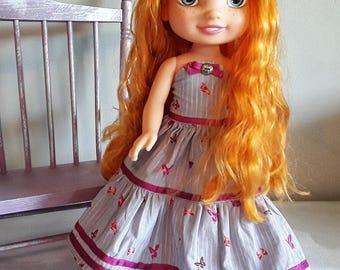 Flown Butterfly doll dress