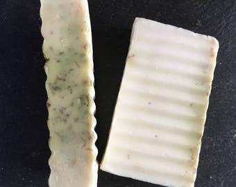 ORGANIC MINT SOAP —  Goats Milk Soap / Handmade Soap / Natural Mint Soap / Artisanal Soap / Dye Free Soap / Organic Soap Gift / Gift Soap