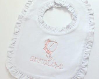 Vintage Stitched Bonnet Bib