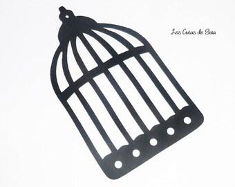 1 x vintage fine cut leather bird cage