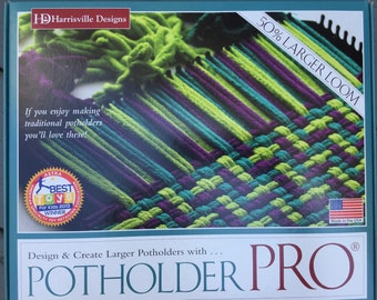 Harrisville Potholder Pro Loom kits with loopers