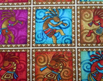 Kokopelli Fabric 1/2 YD