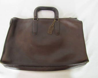 Vintage Coach Bonnie Cashin Brown Leather Briefcase Made in New York City, USA