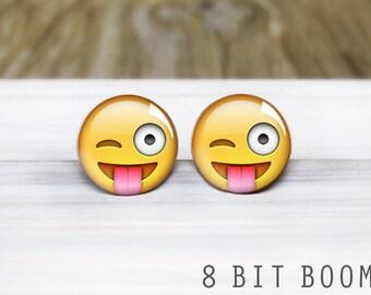 Silly Emoji Stud Earrings- Hypoallergenic Earrings for Sensitive Ears
