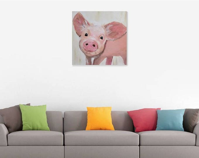 Pig Art - Acrylic Painting - Clearance