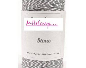5 m baker's twine grey embellishment scrapbooking cardmaking