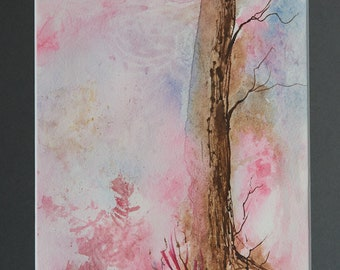 Original Watercolour of tree